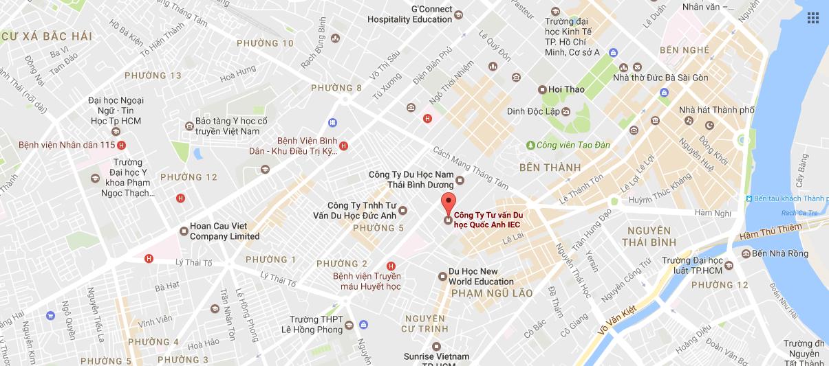 Bản đồ Công ty tư vấn du học Quốc Anh