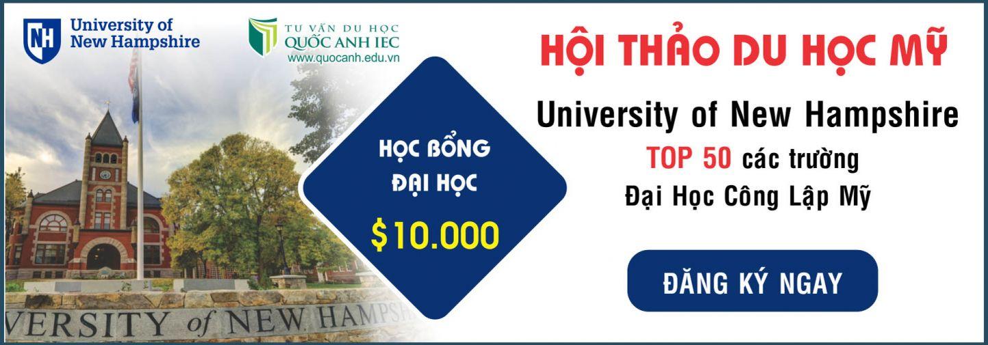 DU HOC MY VOI HOC BONG DEN $10 000 NAM TU TRUONG DAI HOC NEW HAMPSHIRE